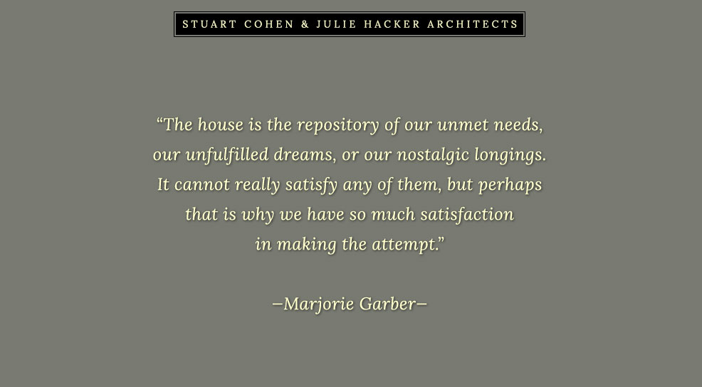 Stuart Cohen and Julie Hacker - Chicago IL Residential Architects - North Shore Chicago Illinois